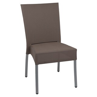 Hans Andersen Home Taupe Fabric/Aluminum Outdoor Side Chair