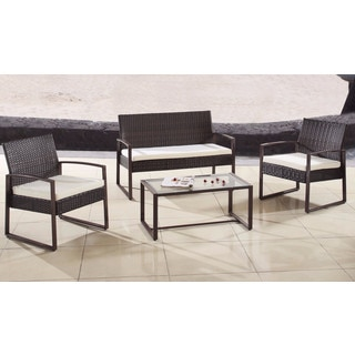 Modern Outdoor Garden Patio 4-piece Wicker Sofa Furniture Set