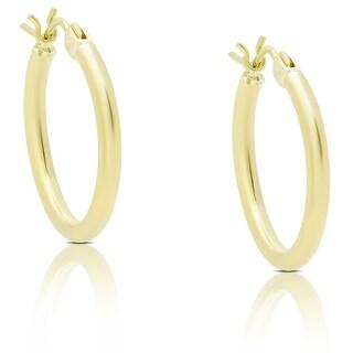 Dolce Giavonna 14k Gold Hoop Earrings