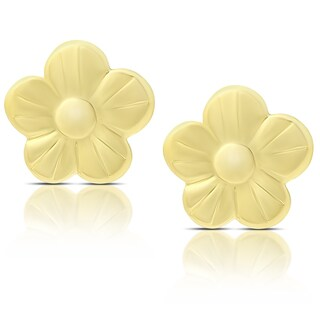 Molly and Emma 14K Gold Flower Stud Earrings