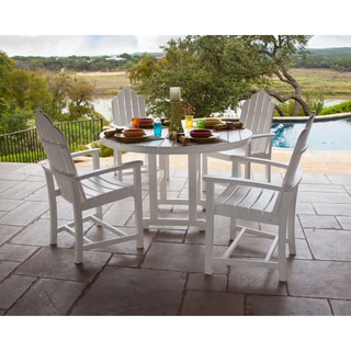Hanover SIESTAKEY5PC Siesta Key White Plastic 5-piece Outdoor All-weather Dining Set