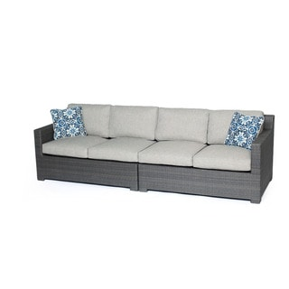 Hanover Outdoor Metropolitan 2-piece Love Seat With Silver Lining