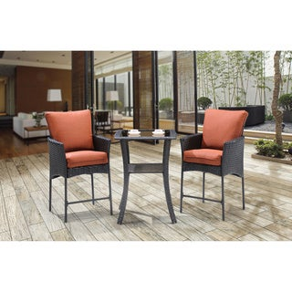 Hanover Outdoor Strathmere Allure Brown Steel 3-piece High-dining Bistro Set