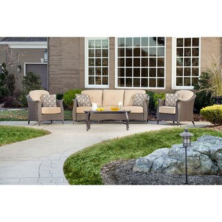 Hanover Outdoor GRAMERCY4PC Gramercy 4-piece Seating Set in Country Cork