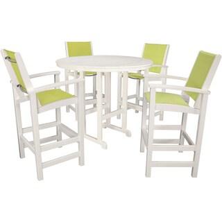 Hanover Outdoor NASSAU5PC-AV Nassau 5-piece High Dining Set in Avocado Green