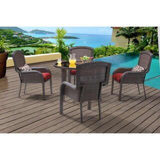 Hanover Strathmere 5-piece Outdoor Dining Set with 48-inch Round Table