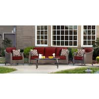 Hanover Outdoor Gramercy Crimson Red Four-piece Seating Set