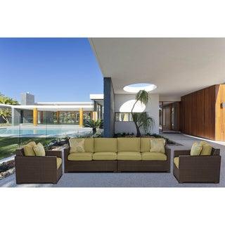 Hanover Outdoor METRO4PC-B-GRN Metropolitan Avocado Green 4-piece Lounge Set