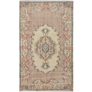 eCarpetGallery Sunwash Ivory Wool Hand-knotted Anatolian Rug (4'8 x 7'11)