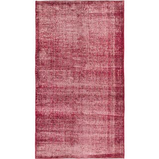 eCarpetGallery Color Transition Red Wool Hand-knotted Rug (3'10 x 6'11)