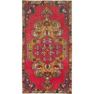 eCarpetGallery Red Wool Hand-knotted Anadol Rug (4' x 7'8)