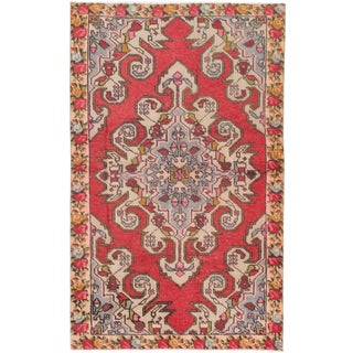 eCarpetGallery Anadol Red/Black Cotton/Wool Hand-knotted Vintage Rug (4'5 x 7'2)