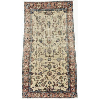 eCarpetGallery Melis Ivory Cotton/Wool Vintage Hand-knotted Rug (3'9 x 6'11)