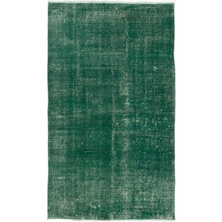 ecarpetgallery Color Transition Green Wool Hand-knotted Rug (3'9 x 6'5)