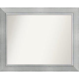 Wall Mirror Choose Your Custom Size Medium, Romano Silver Wood