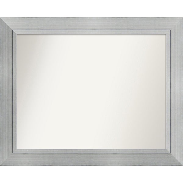 Wall Mirror Choose Your Custom Size Medium, Romano Silver Wood - Silver/Black