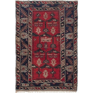 eCarpetGallery Konya Anatolian Red/Brown Wool Hand-knotted Rug (4'3 x 6'4)