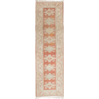 ecarpetgallery Ushak Brown Wool Hand-knotted Rug (2'8 x 9'4)