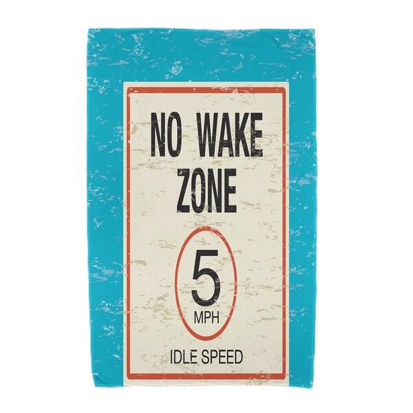 30 x 60-inch No Wake Word Print Beach Towel