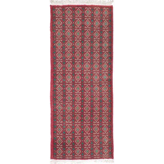 eCarpetGallery Melis Vintage Red Wool Hand-knotted Rug (2'8 x 6'10)
