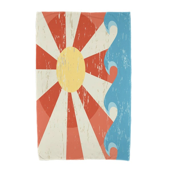 30 x 60-inch Sunbeams Geometric Print Beach Towel