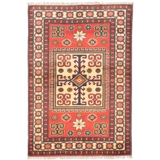 eCarpetGallery Finest Kargahi Multicolored Cotton/Wool Hand-knotted Rug (3'7 x 5'3)