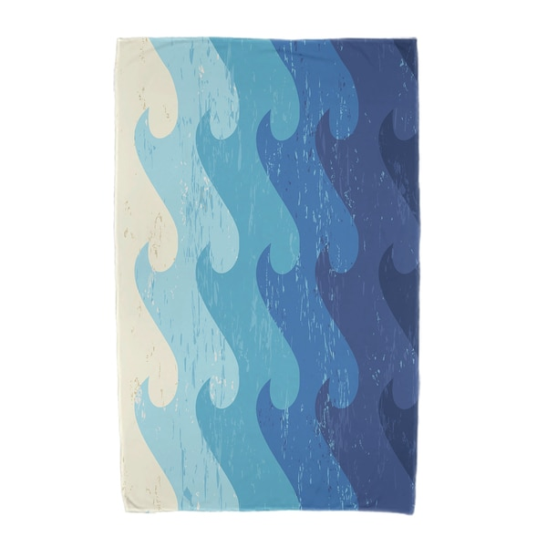 30 x 60-inch Deep Sea Geometric Print Beach Towel