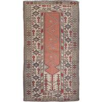 eCarpetGallery Konya Anatolian Brown/Ivory Wool Hand-knotted Rug (3'9 x 6'7)