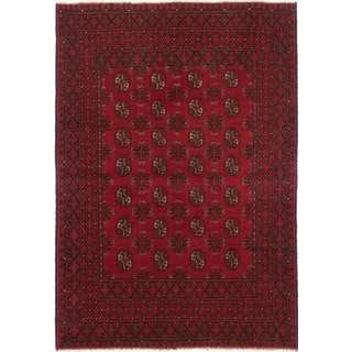 eCarpetGallery Khal Mohammadi Red Wool Hand-knotted Rug (4'1 x 5'10)