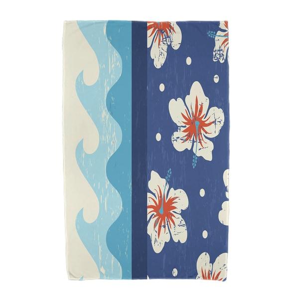 30 x 60-inch Surf Sand & Sea Floral Print Beach Towel