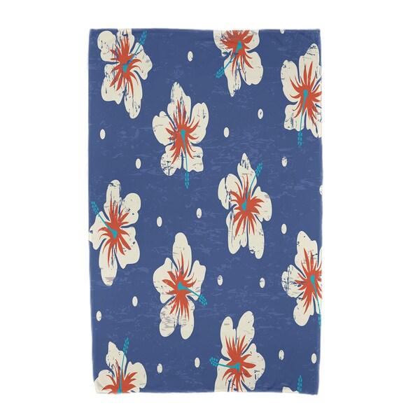 30 x 60-inch Hibiscus Blooms Floral Print Beach Towel