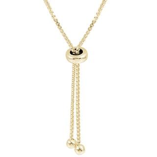 Mondevio Sterling Silver Y Shape Adjustable 30-inch Necklace