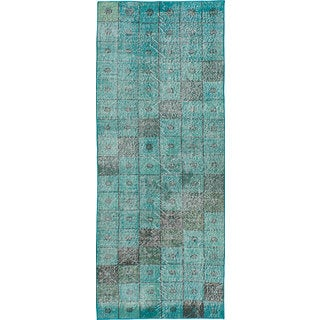 Ecarpetgallery Color Transition Green/Black Cotton/Wool Hand-knotted Rug (2'6 x 6'8)
