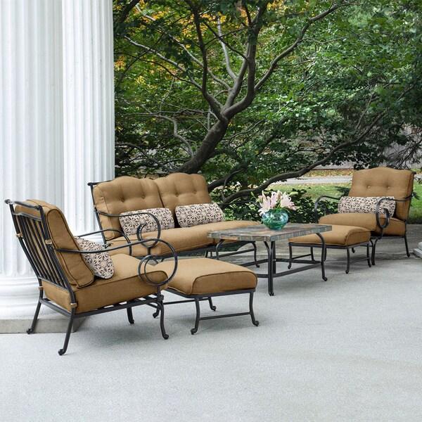 Stone Top Outdoor Coffee Table: Shop Hanover Outdoor Oceana 6-piece Patio Set In Country