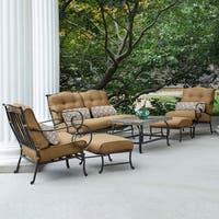 Hanover Outdoor Oceana 6-piece Patio Set in Country Cork with a Stone-top Coffee Table