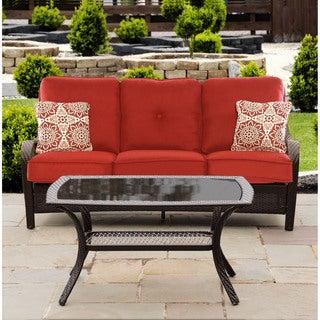 Hanover Outdoor ORLEANS2PC-B-BRY Orleans 2-piece Patio Set in Autumn Berry