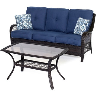 Hanover Outdoor ORLEANS2PC-B-NVY Navy Blue Orleans 2-piece Patio Set