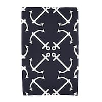 30 x 60-inch Anchor's Up Geometric Print Beach Towel