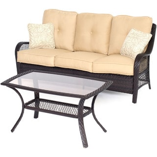 Hanover ORLEANS2PC-B-TAN Orleans Sahara Sand Steel 2-piece Outdoor Patio Set