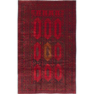 eCarpetGallery Royal Baluch Red Hand-knotted Wool Rug (6'3 x 10'3)