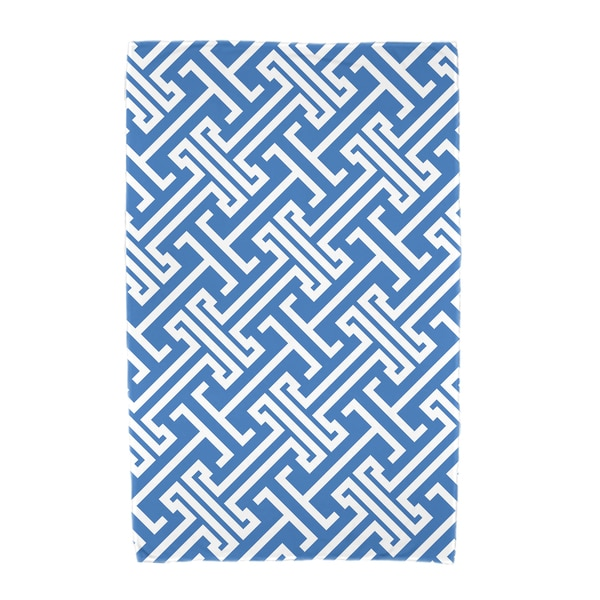 30 x 60-inch Leeward Key Geometric Print Beach Towel