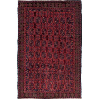 eCarpetGallery Royal Baluch Brown Wool Hand-knotted Rug (6'6 x 10')