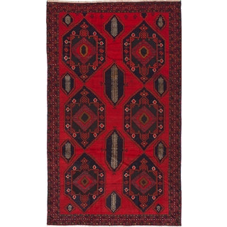 eCarpetGallery Finest Rizbaft Red/Camel Wool Hand-knotted Rug (6'0 x 10'4)