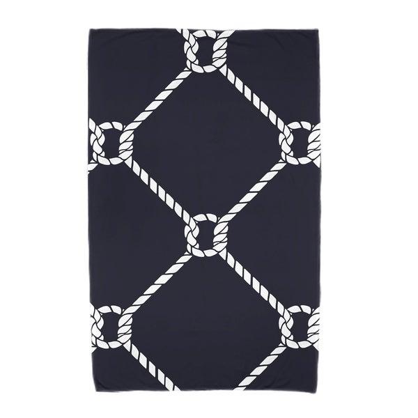 30 x 60-inch Ahoy! Geometric Print Beach Towel