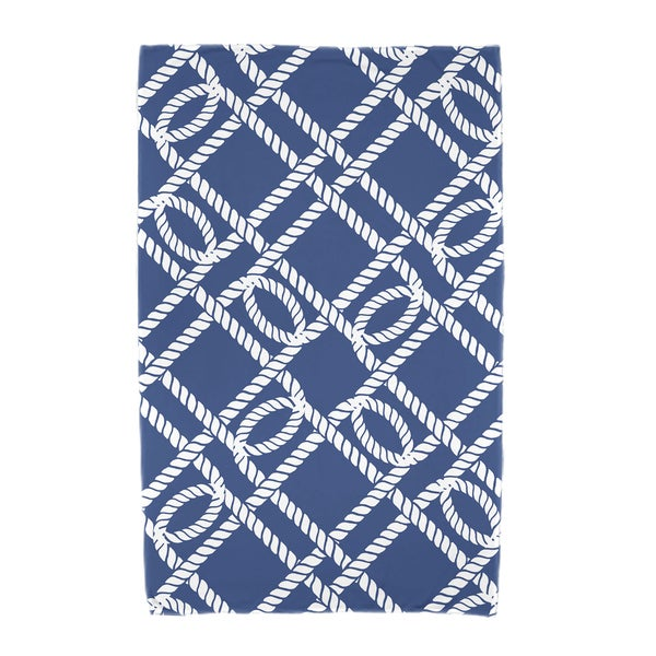 30 x 60-inch Know the Ropes Geometric Print Beach Towel