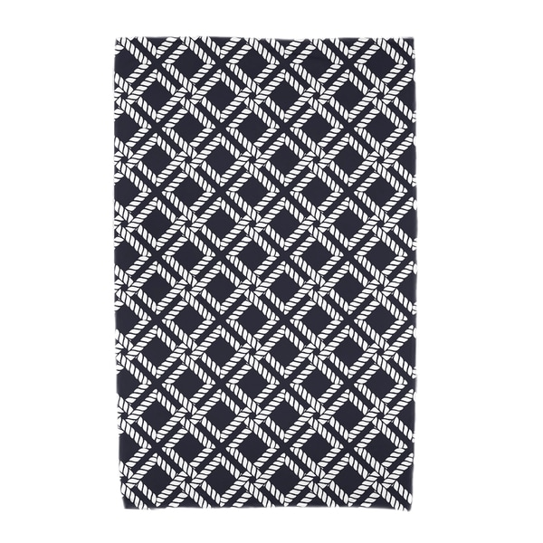 30 x 60-inch Rope Rigging Geometric Print Beach Towel