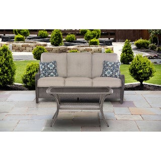 Hanover Outdoor Orleans Silver Lining 2-piece Patio Set