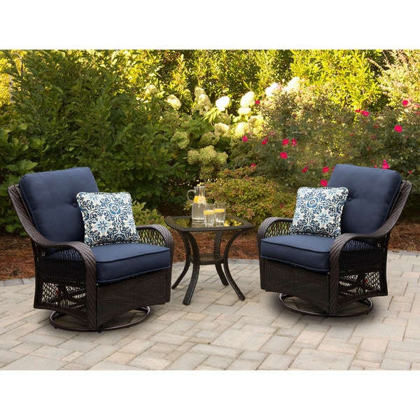 Shop Hanover Orleans3pcsw B Nvy Orleans Navy Blue Rattan 3