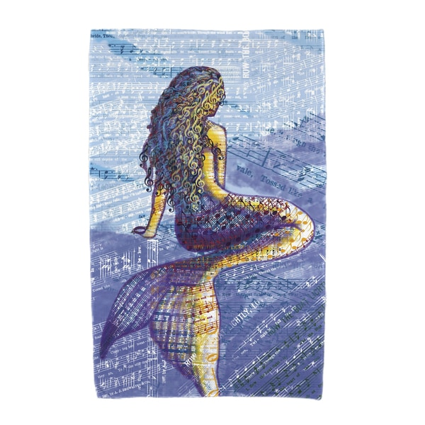30 x 60-inch Mermaid Geometric Print Beach Towel