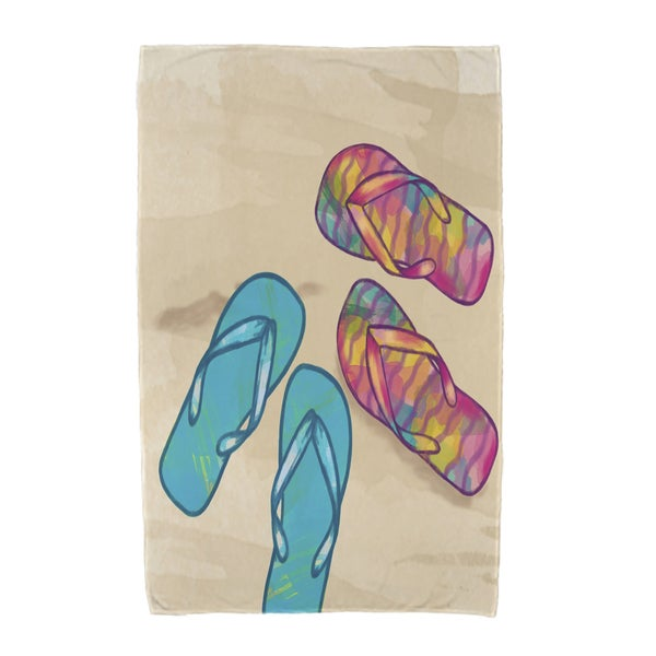 30 x 60-inch Beach Shoes Geometric Print Beach Towel